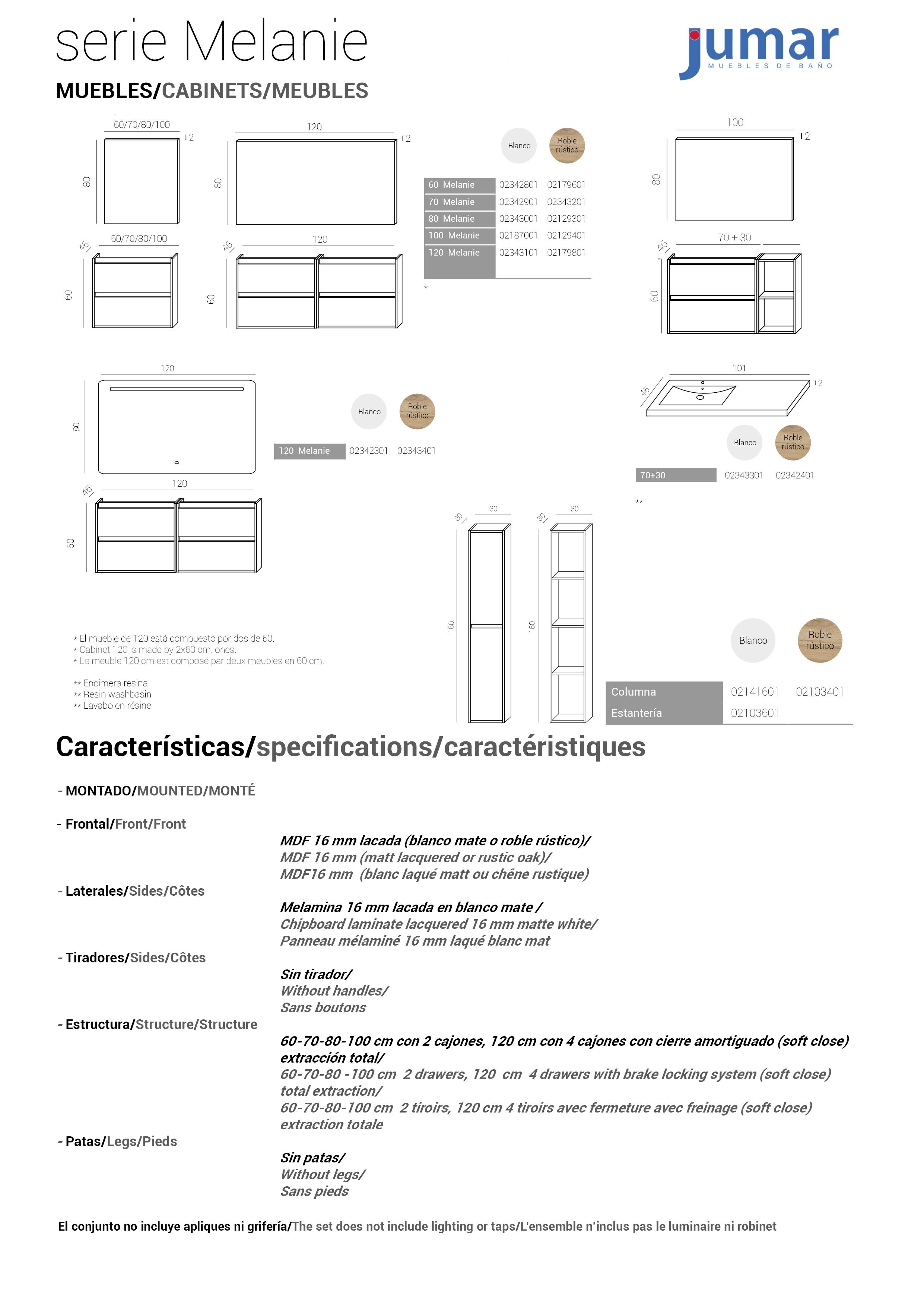 Columna de ba o melanie 30 cm 2 puertas jumar for Muebles jumar