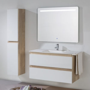 Neus set with backlit mirror